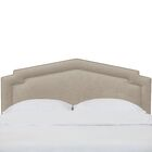 Sawyer Notched California King Upholstered Panel Headboard Color: Putty, Size: California King