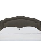 Sawyer Notched California King Upholstered Panel Headboard Color: Slate, Size: Queen