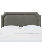 Schmitt Notched California King Upholstered Panel Headboard Color: Charcoal, Size: California King