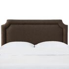Schmitt Notched California King Upholstered Panel Headboard Color: Espresso, Size: Full