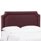 Schmitt Notched California King Upholstered Panel Headboard Color: Oxblood, Size: Full