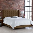 Wingback Upholstered Panel Bed Size: Full, Color: Groupie Praline