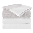Chevas 100% Turkish Cotton Luxury Sheet Set Size: Queen, Color: Taupe and White