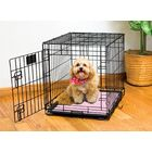 Dog Crate Mat Color: Pink Paw Stripe