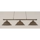 Mendez 3-Light Billiard Light Shade Color: Gray, Finish: Brushed Nickel