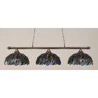 Mendez 3-Light Mosaic Tiffany Shade Billiard Light Finish: Brushed Nickel