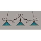 Babin 3-Light Billiard Light Color: Bronze, Shade Color: Raspberry