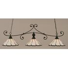 Marylin 3-Light Billiard Light Finish: Matte Black, Shade Color: Pearl