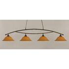 Blankenship 4-Light Billiard Light Shade Color: Cayenne, Color: Dark Granite