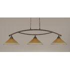 Blankenship 3-Light Billiard Light Shade Color: Amber, Finish: Bronze