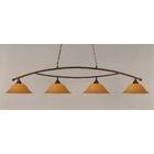 Blankenship 4-Light Billiard Light Color: Bronze, Shade Color: Cayenne