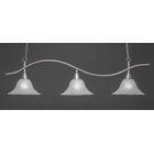 Demi 3-Light Billiard Light Shade Color: White, Finish: Brushed Nickel