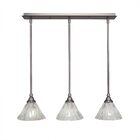 Palacios 3-Light Multi Light Mini Pendant With Hang Straight Swivels Finish: Brushed Nickel