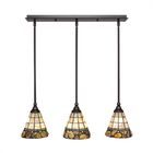 Ratchford 3-Light Kitchen Island Pendant Finish: Dark Granite