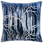 Willow Throw Pillow Color: Cobalt Black, Size: 22'' H x 22'' W x 3'' D