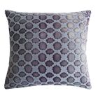 Mod Fretwork Velvet Throw Pillow Color: Wildberry, Size: 18
