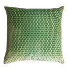 Dots Velvet Pillow Color: Grass, Size: 18'' H x 18'' W x 4'' D