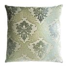 Brocade Velvet Pillow Size: 22'' H x 22'' W x 3'' D, Color: Denim