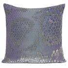 Snakeskin Throw Pillow Color: Cornflower