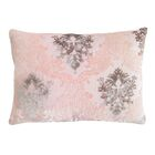 Brocade Velvet Lumbar Pillow Color: Blush