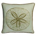Nauticals Sand Dollar Pillow Color: Seaglass