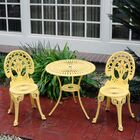 Mulic 3 Piece Bistro Set Finish: Yellow