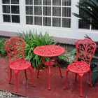Mulic 3 Piece Bistro Set Finish: Red