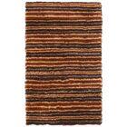 Mirage Brown/Orange Area Rug Rug Size: 5' x 8'