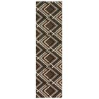 Augusta Browning Avenue Brown Area Rug Rug Size: Runner 2' x 7'9