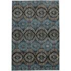 Metropolitan Apollo Blue/Black Area Rug Rug Size: Rectangle 9'6