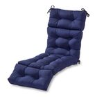 Sarver Indoor/Outdoor Chaise Lounge Cushion Fabric: Navy