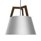 Imber 1-Light Cone Pendant Finish: Oiled Walnut/Brushed Aluminum