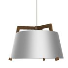 Ignis 1-Light  LED Drum Pendant Finish: Oiled Walnut/Brushed Aluminum, Size: 14.75