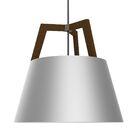 Imber 1-Light Cone Pendant Finish: Oiled Walnut/Brushed Aluminum