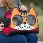 Catysmile Backpack Cat Carrier Color: Red/Orange