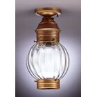 Onion Socket Round Semi Flush Mount Finish: Dark Brass, Shade Color: Optic