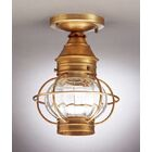Onion Socket Caged Semi Flush Mount Finish: Raw Copper, Shade Color: Clear