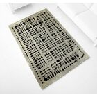 Hand-Tufted Gray Area Rug Rug Size: 7'1
