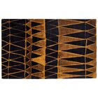 Marrakech Black/Gold Area Rug Rug Size: Rectangle 5' W x 8' L