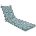 Delancey Chaise Lounge Cushion Fabric: Blue/Green