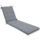 Herringbone Chaise Lounge Cushion Fabric: Slate