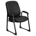 Thornfeldt Leather Guest Chair with Sled Base