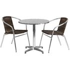 Caswell Round 3 Piece Bistro Set Table Size: 27.25