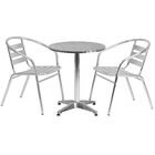 Isleton Round 3 Piece Bistro set Table Size: 27.25