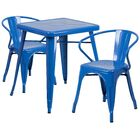 Indian Wells 3 Piece Bistro Set Finish: Blue