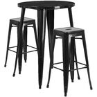 Mcmorrow 3 Piece Bar Height Dining Set Color: Black, Table Size: 41