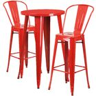 Sumter 3 Piece Bar Height Dining Set Finish: Red