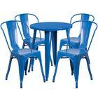 Aragon Metal Indoor/Outdoor 5 Piece Dining Set Finish: Blue