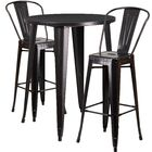 Austell 3 Piece Bar Height Dining Set Finish: Black/Antique Gold
