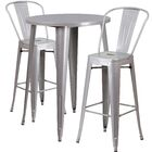 Austell 3 Piece Bar Height Dining Set Finish: Silver
